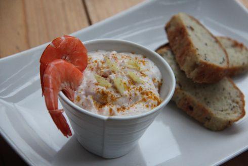 rillette légère aux crevettes