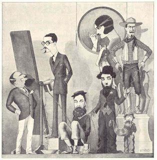 1923 Cartoon - when Rudolph Valentino returned from his trip abroad sporting a beard all hell broke loose!