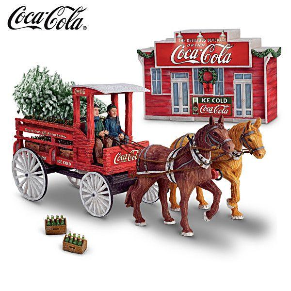 COCA-COLA Delivery Wagon 125th Anniversary Sculpture