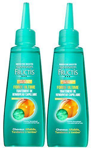 Garnier – Fructis Force Ultime – Sérum Cheveux Fragilisés – Lot de 2: 1000+ cheveux en 90 jours Le cheveux pousse plus fort et plus beau…