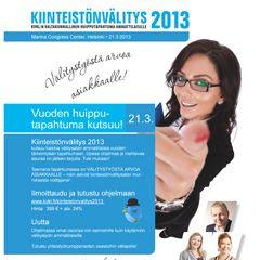SKVL esite, Suomen Kiinteistönvälittäjien Keskusliitto, tapahtumaesite 2013. Vastaavat FB-sivut myös tuotettu yritykselle.