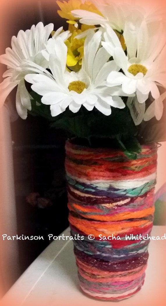 Yarn Vase  Beautiful Gift Custom Made  by ParkinsonPortraits, $65.00