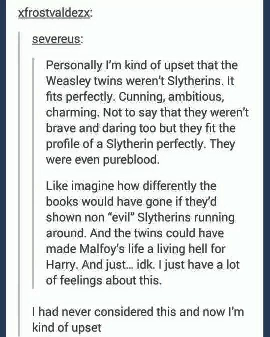 Not Slytherin Evil Characters?