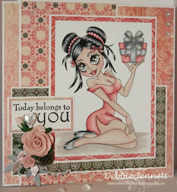 "Redonkadoodles.com - ""Seduction Suzie"" Digital Stamp - Handmade Card Design By: Deb Jennett"
