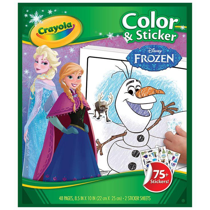 Crayola Color N Sticker Book - Disney Frozen | Toys R Us Australia