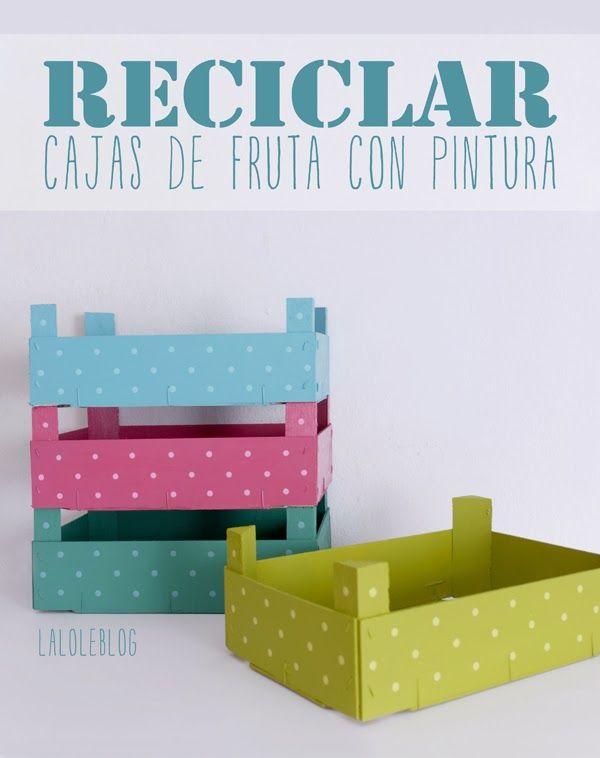 RECICLAR CAJITAS DE FRESAS CON PINTURA - LALOLE  BLOG