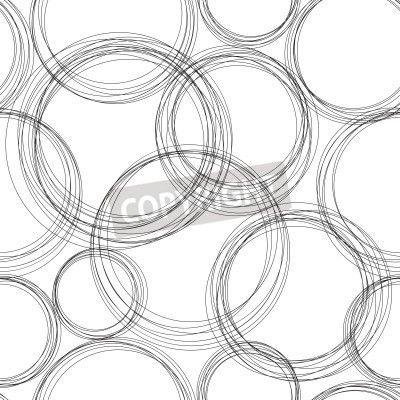 Cubicle Wallpaper Monochrome circles - Dream Cubicle