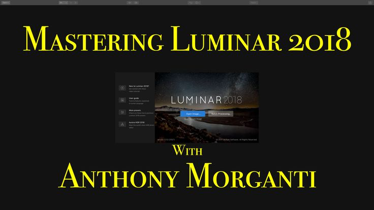 In this nine-part video series, I will teach you how to be a Luminar 2018 expert. Luminar 2018 is a non-destructive RAW editor and once you start using it, I think you'll find that it's very powerful yet easy to use and will open many creative possibilities.