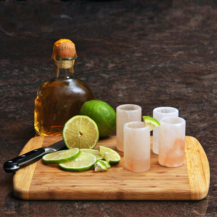 Impress your guests with these cool shot glasses. Carved from the finest quality, food grade Himalayan pink salt, our shot glasses are perfect for your Cinco de Mayo party or any gathering where tequila...