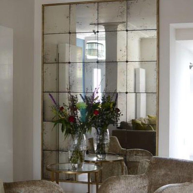 antique mirror glass distressed mirrors mirrored tiles splashbacks - Design Wall Mirrors