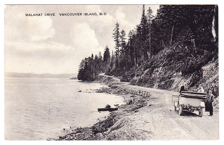 BC – MALAHAT DRIVE, Section of Highway at Mill Bay, Leonard Frank c.1910s PPC