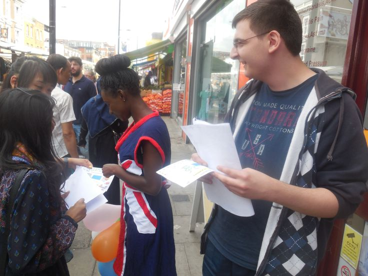 Speaking with the local people around Oxford House