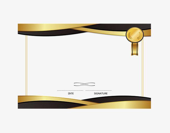 Golden Emblem Border Png And Vector Certificate Design Template Certificate Design Inspiration Certificate Design Certificate background design hd png