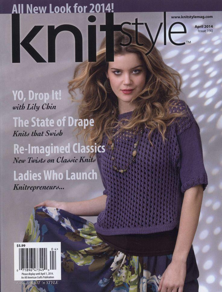 Knit style 190 avril 2014 Peplum cardi Lady grey topper