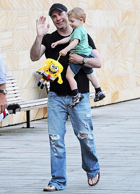 John Travolta with his 2-year-old son, Benjamin