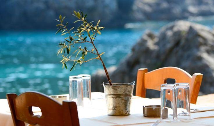 Seaside meal in Corfu
