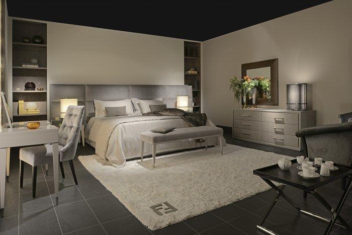Fendi Casa, FF CASA Regent bed and Dedalo bench