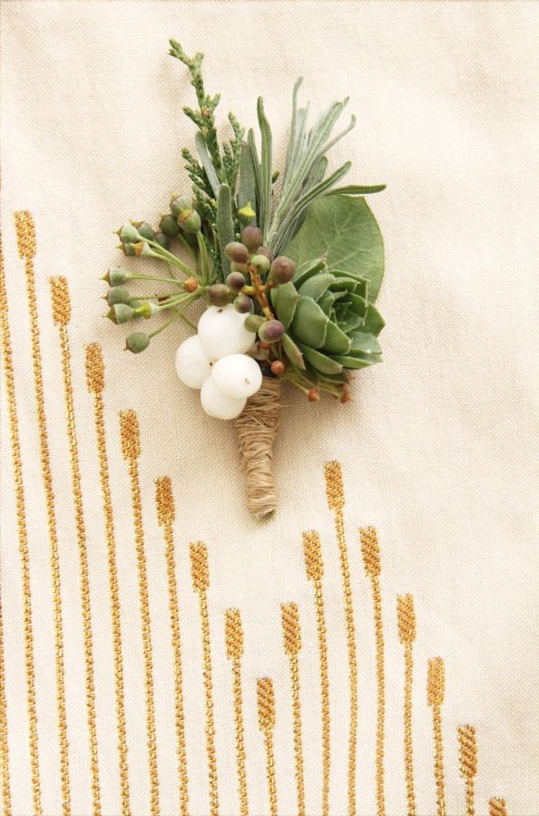 snowberry boutonniere