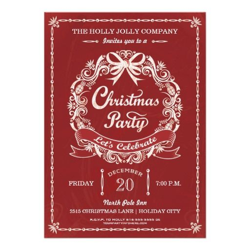 58 best custom christmas cards and holiday cards images on pinterest corporate holiday party invitation business christmas party invitation white wreath banner and elegant reheart Choice Image