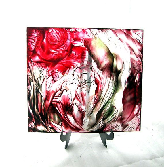 Gift Ideas Abstract Floral Art on Plexiglass Panel by StudioSabine, $99.00
