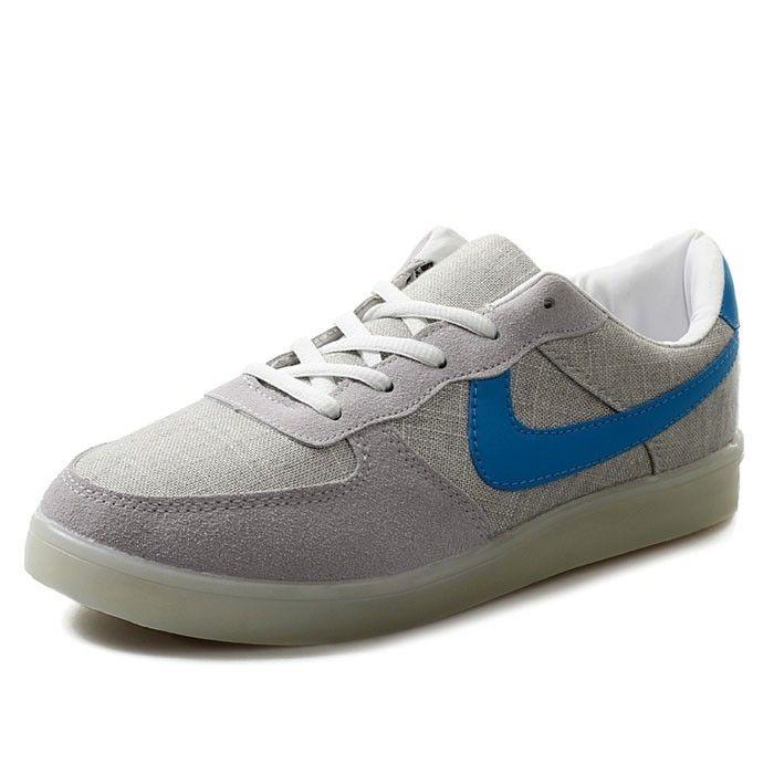Leuchtende Schuhe Blaue Logo Billig Damen