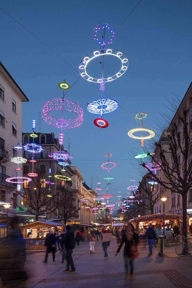 Gallery of Brut Deluxe Lights up the Streets of Geneva with LUX.LGE Installation…