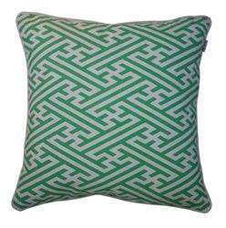 Fretwork cushion. Mint. Ada and Darcy