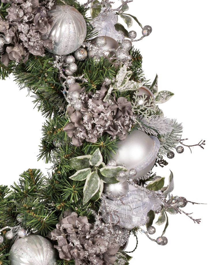 Crystal Palace Decorated Wreath and Garland   Balsam Hill