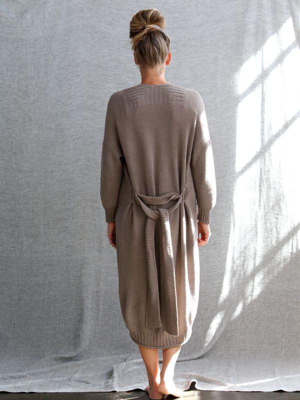 Piqué Knit Gown ~ cosy & elegant ~ luna lounge