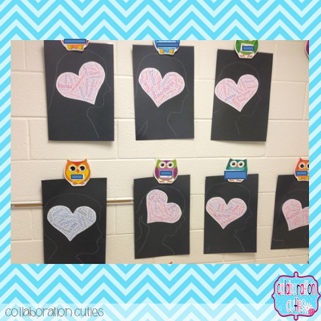 A Back to School Idea for Building Student Self-Concept- Adjective Silhouettes. LOVE this idea for back to school. So cute and fun for older grades.