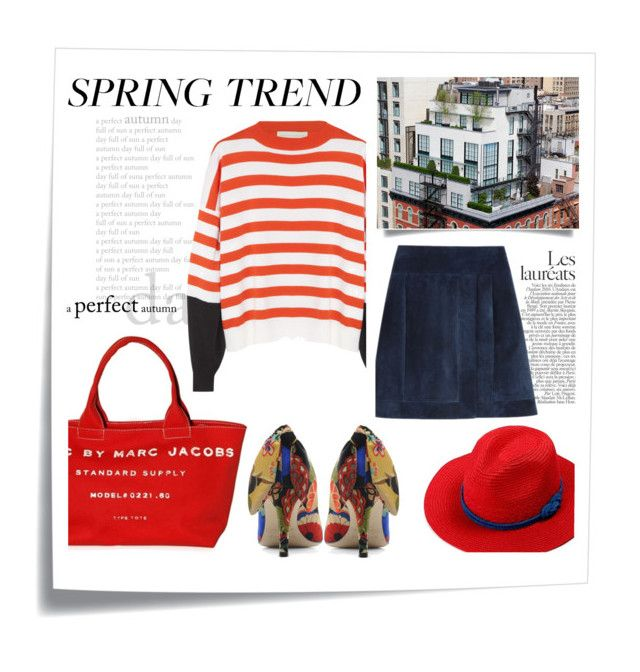 Spring trend : Graphic sweater & papaver by kelly-m-o on Polyvore featuring polyvore, fashion, style, STELLA McCARTNEY, Marc by Marc Jacobs and Post-It