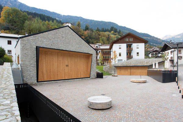 Dorfhaus St. Martin im Passeiertal, Architekt Andreas Flora, Schankbereich, Bar