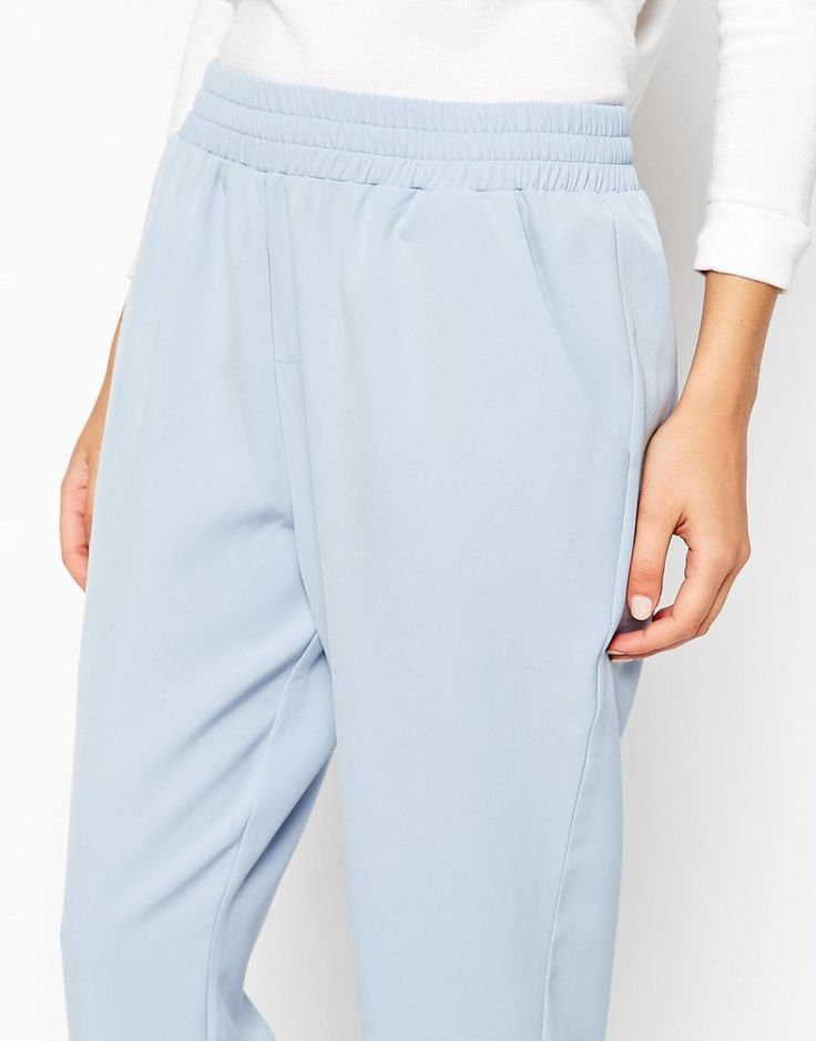 Image 3 ofASOS Tailored Trouser with Elastic Waist co-ord