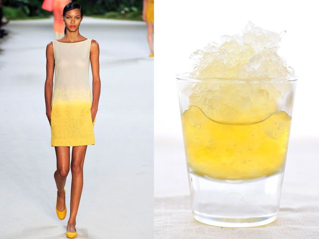 Akris ss 2013 / Frozen vodka and pineapple juice after-dinner drink