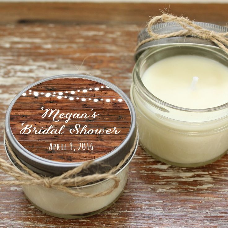 fall bridal shower menu ideas%0A Soy Candle Wedding and Bridal Shower Favors See more here  http   www