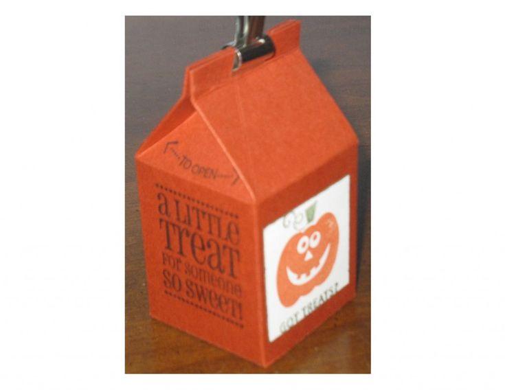 got treats mini milk carton die clips assortment - Halloween Cartons