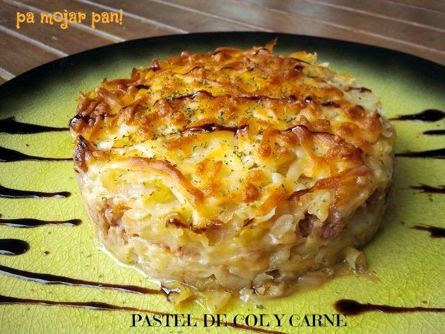 pa mojar pan!: Pastel de col y carne
