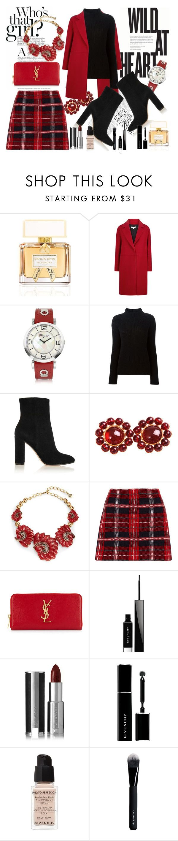 Date night by denisa-marcu on Polyvore featuring Helmut Lang, Paule Ka, Miu Miu, Gianvito Rossi, Yves Saint Laurent, Oscar de la Renta, Salvatore Ferragamo and Givenchy