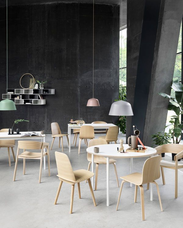 new nordic dining spaces with muuto dining dining table lighting rh pinterest com