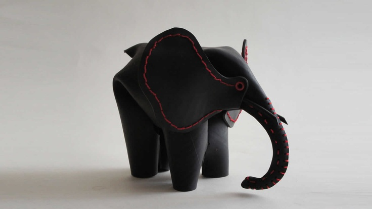 Elephant  made from upcycled rubber