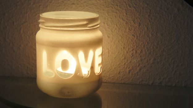 diy love candle holder