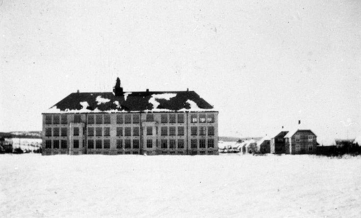 Akershus fylke Skedsmo kommune Volla skole Lillestrøm 1922 Foto: Asbjørn Dørumsgaard