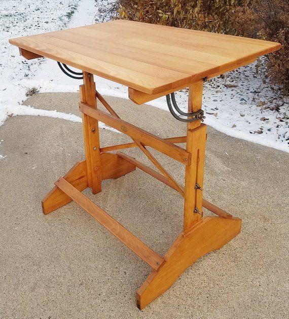 vintage 50 s anco bilt drafting table dining table pub table rh pinterest com