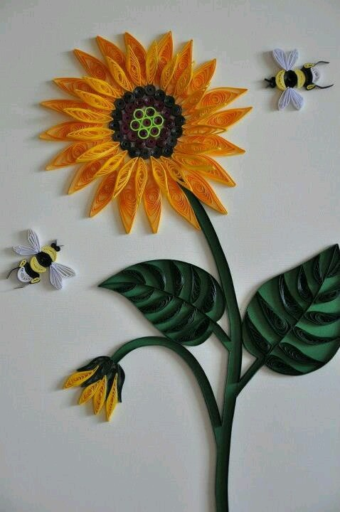 45 Best Images About Sunflower Quilling On Pinterest