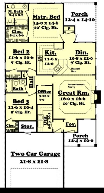 1500 Sq. Ft. House Plan [Kendall (15 005 315)