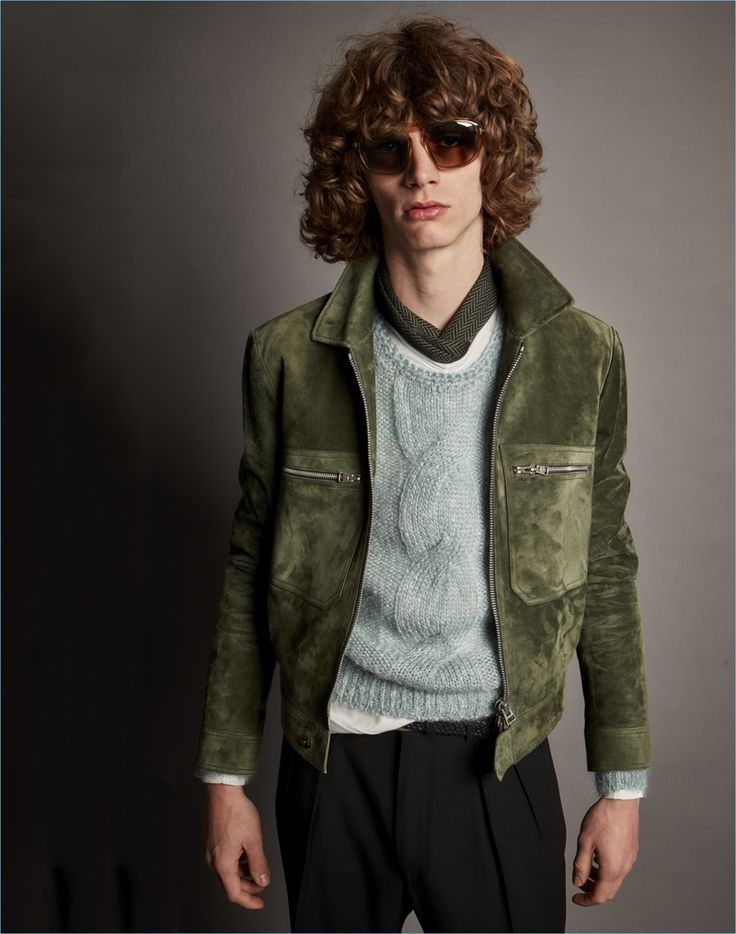A suede jacket offers an everyday option with a luxe factor, courtesy of Tom Ford.