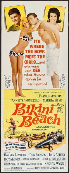Bikini Beach (1964) Stars: Frankie Avalon, Annette Funicello, Martha Hyer, Don Rickles, Harvey Lembeck, Meredith MacRae ~ Director: William Asher
