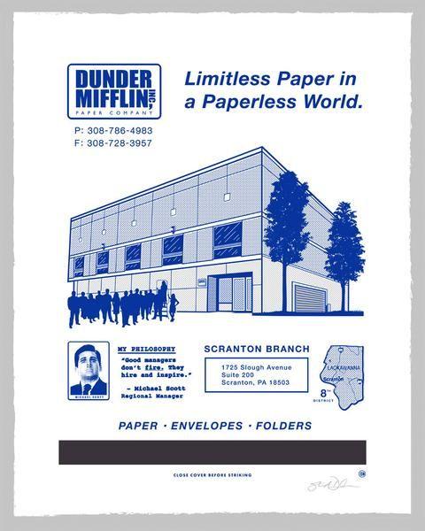 """Steve Dressler """"Dunder Mifflin"""" A/P Print"""