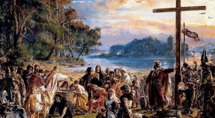 Chrzest Polski w 966 roku to wydarzenie, które jest interpretowane w różny sposób. O tym dlaczego Mieszko I przyjął chrześcijaństwo można dowiedzieć się m.in. w tym materiale... http://bloggingnetworkonline.com/Polska/dlaczego-mieszko-i-przyjal-chrzescijanstwo-wedlug-czeslawa-bialczynskiego/