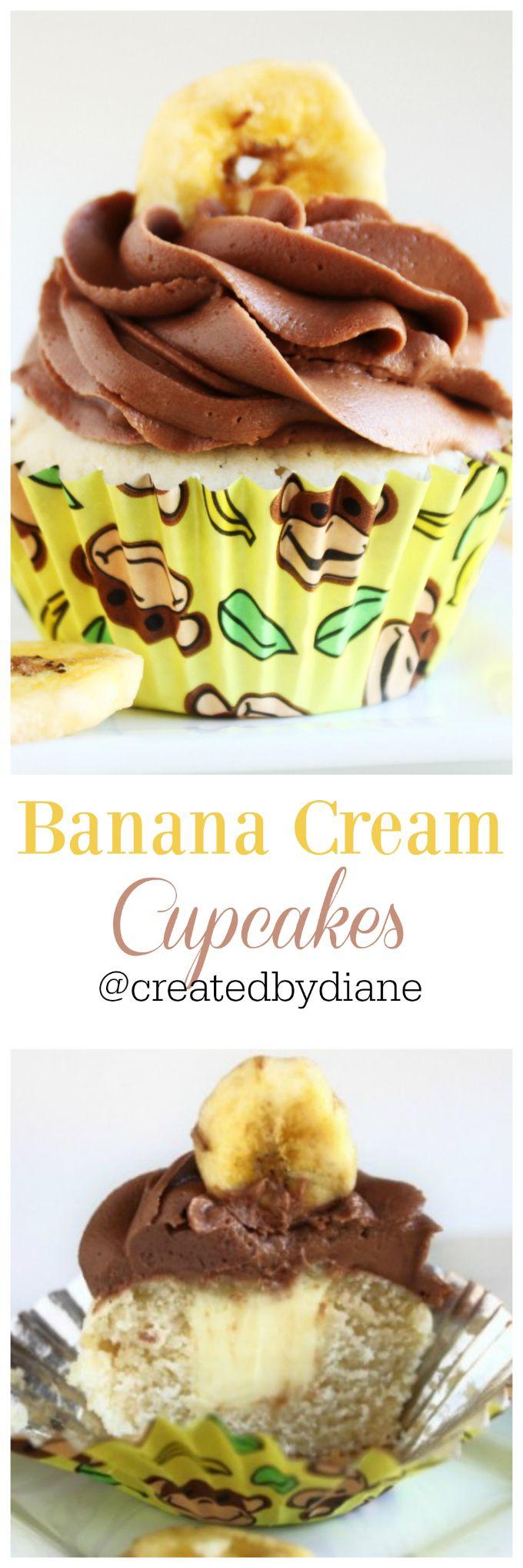 banana cream cupcakes @createdbydiane